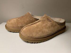 UGG Australia NEUMAN Suede/Sheepskin Slippers Men's Size 6 Wmns 7.5 3234 Uggs