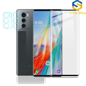 3D Full Covered Tempered Glass For LG Wing 5G 2020 Camera lens Screen protector