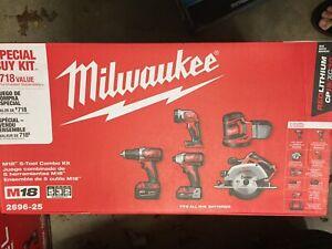 Milwaukee 2696-25 M18 5-Piece Cordless Tool Combo Kit New