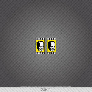 07341 Cannondale Bicycle Head Shok Stickers - Decals - Transfers - Yellow