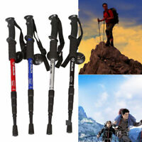 4-Sections Hiking Walking Trekking Anti-shock Trail Poles Stick Adjustable Cane