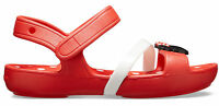 Crocs Kinder Sport Freizeit Sandale Kids' Crocs Lina Minnie Mouse Sandal rot