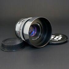 Silver Helios 44M 58mm F2 Purple Anamorphic flare & Bokeh cine lens Canon EF