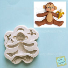 Jungle Safari Monkey silicone mold for fondant, chocolate, resin, clay,