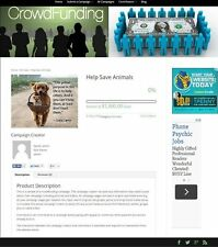 CROWDFUNDING SERVICE WEBSITE FOR SALE! FULLY DEVELOPED & AUTOMATED SITE