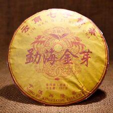 Puer Tea Ripe Pu erh Tea Cake Menghai Golden Bud Fermented Black Tea Yunnan 357g