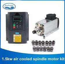 1,5kw Spindle Motor Air cooled milling spindle + inverter +1Set ER11 for CNC