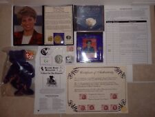 PRINCESS DIANA COMMEMORATIVE PACKAGE SET COIN BEANIE ROYAL NICKEL SILVER OFFER