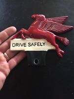 Flying J Truck Stop Solid Metal License Plate Topper Antique Style Patina G/Vg