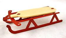 Maison De Poupées 1:12 Miniature Noël Neige Accessoire Volant Traineau Luge