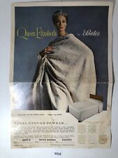 Vintage Queen Elizabeth by Bates Blanket Advertisement