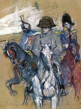 NAPOLEON Bonaparte painting on horse Henri de Toulouse-Lautrec CANVAS art print