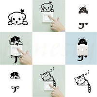 2pc Removable Cute Cartoon Light Switch Art Vinyl Wall Decal Stickers Home Decor