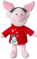 "Disney Authentic Piglet Holiday Plush Toy Doll Winnie the Pooh Stuffed Animal 8"""