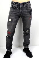 True Religion $279 Men's Rocco Patched Skinny Stone Relic Jeans - MDAJ60N26J