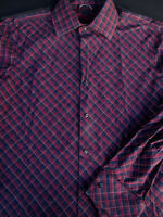 Banana Republic Mens Button Front Long Sleeve Cotton Plaid Shirt Large L