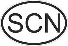OVAL sticker flag country code bumper decal car laptop saint kitts and nevis SCN