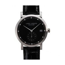 Lars Larsen RRP £205 BNWT Box Black Ladies Emma Watch 137SBBL