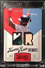 2014 Panini Classics David Ortiz Home Run Heroes Patch Bat Relic Red Sox 1/1