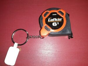 LUFKIN® 6' pocket-size tape measure/keychain BRAND NEW! Handy and convenient