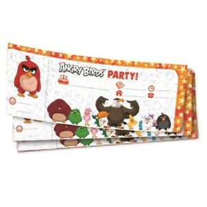 Angry Birds Party Supplies Tableware, Decorations, Balloons, Invites, Party Bags