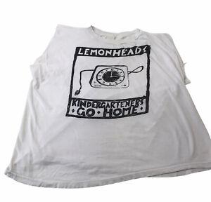 Vintage The Lemonheads Band Shirt Rare 90s Cut Off Kindergartners Go Home Large