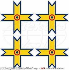 """ROMANIA Romanian AirForce WW2 Aircraft Roundels Decals Stickers, 2"""" (50mm) x4"""