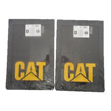 2x CAT MUDFLAPS 12X18 INCH; CATERPILLAR MUD FLAP; MUDFLAP; 4x4; 4WD; UTE