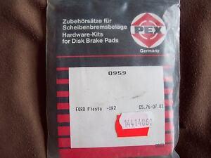 Ford Fiesta XR2!! Zubehörsatz für Scheibenbremsbeläge!! Oldtimer!! Pex
