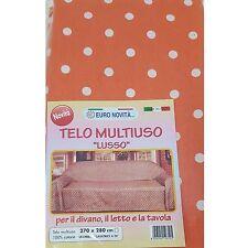 Mobilier de tissu Orange pois 270x280 couvre tout granfoulard Housse Coton