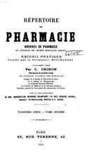 Répertoire de Pharmacie by C. Crinon (2016, Paperback)