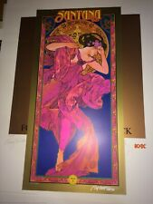 Carlos Santana orig art print 2000 Commission 60s Art Icon Bob Masse signed