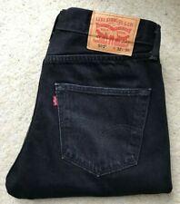Mens Levis 501 XX straight leg black denim jeans W 32  L 36
