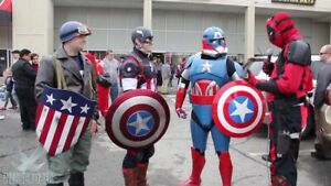Captain America Cosplay Including Winter Soldier