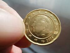 20 centimes Euro - Belgique - FAUTEE - Très beau surplus de métal sur le flan