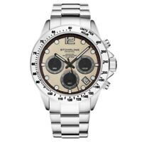 Stuhrling 3961 3 Quartz Chronograph Date Stainless Steel Bracelet Mens Watch