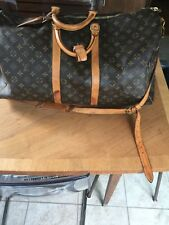 Authentic  Louis Vuitton Monogram Canvas Keepall 65 Large Duffle Bag Luggage