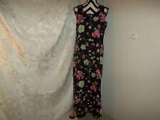 Kathie Lee size M (8/10) black floral reversible dress