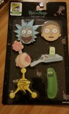 2018 SDCC COMIC CON EXCLUSIVE UCC RICK AND MORTY ACRYLIC BUTTON 6 PACK PICKLE