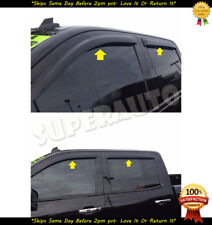 Smoked Window Visor For 2015-18 Chevy Silverado 2500/3500HD Vent Guard Deflector