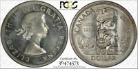 1958 CANADA BRITISH COLUMBIA ONE DOLLAR BU PCGS MS64 COIN IN HIGH GRADE