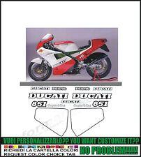 kit adesivi stickers compatibili  851 1988 superbike