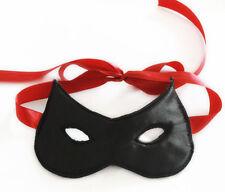 Máscara Negra de aspecto mojado Restricciones Bondage Fetiche Gear Adulto Disfraz Elaborado Vestido