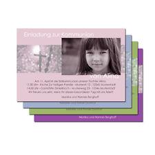 Einladung Danksagung Kommunon Konfirmation + Kuvert
