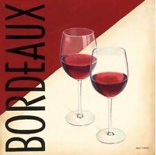 Marco Fabiano: Vin moderne III Fertig-Bild 45x45 Wandbild Wein Bar Drink Küche