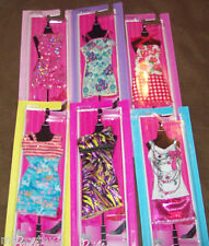 BARBIE FASHIONISTAS FASHION CLOTHES LOT OF 6 DRESSES NEW!