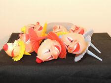 Plastic Cake Topper Clown Heads Set of 7  (6443)