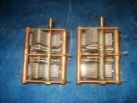 zwei 4 fach Drehkondensator Kupfer NSF 15p 480p