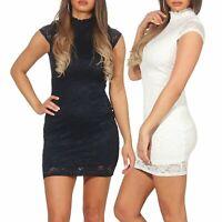 Only Damen Kleid Minikleid Etuikleid Partykleid Spitzenkleid Sommerkleid Alba