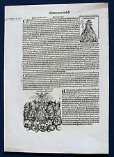 INKUNABELBLATT Schedelsche Weltchronik 1493 CCXXI  mit Konzilansicht - Original!